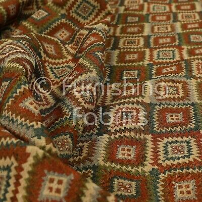 New Mexican Tetris Aztec Geometric Pattern Colourful Jacquard Upholstery Fabrics