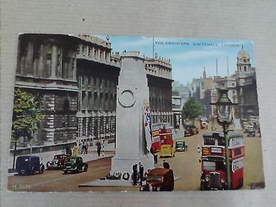 Vintage Postcard London, The Cenotaph, Whitehall Posted (B1)