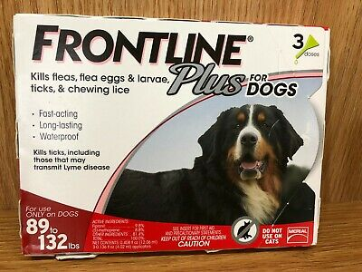 Frontline Plus Red for X-Large Dogs 89 to 132 lbs, 3 Month Supply, 3 Applicators
