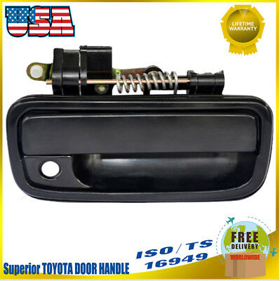 Exterior Door Handle For 95-2004 Toyota Tacoma Front& Driver Side Black Plastic