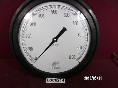 "New In Box Large 12 "" 1000 Lbs Psi Gage Crosby A10 Loc6214"