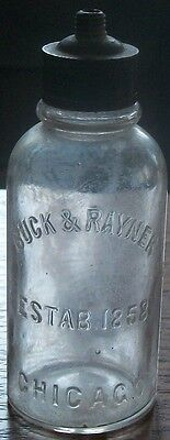 Buck & Rayner Established 1858 Chicago Perfume Ground Threaded Top With Odd Top