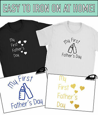 My First Fathers Day Iron On T-Shirt Transfer Daddy Dad Fathers Day Gift Vinyl