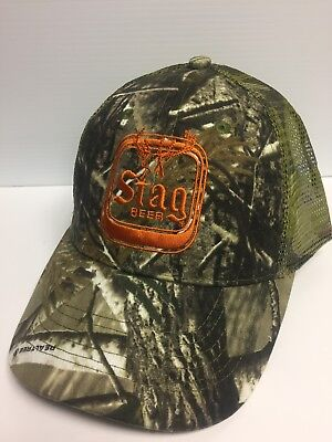 *NEW* Stag Beer RealTree Camo Mesh-Back (Trucker) Hat