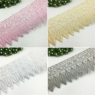 1 Yard Crochet Embroidered Hollow Lace Edge Trim Wedding Sewing Applique Ribbon