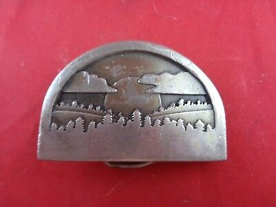 Sunrise Belt Buckle - Sun Over Mountains-Vintage Collectible-Indiana Metal Craft