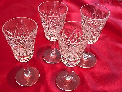 """4 WATERFORD ALANA SHERRY 5 1/8""""  GLASSES /Sold Separately"""