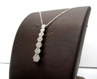 18k White Gold Necklace with 1.10ct Diamonds