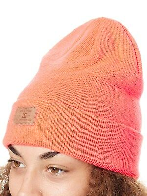 DC Fiery Coral Label Womens Beanie