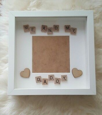 Me and my daddy, fathers day, photo frame, scrabble frame