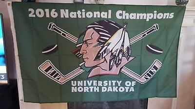 University of North Dakota UND Fighting Sioux Flag Banner 3x5 Feet Hockey Champs