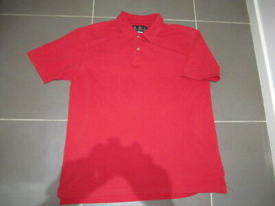 Vintage OLD ENGLISH THE ROYAL FAMILY RED BARBOUR ENGLAND GOLF POLO SHIRT-L MENS