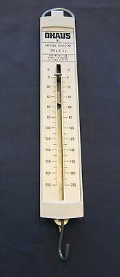 OHAUS MODEL 8262-M HANGING PULL SPRING TYPE SCALE 200 g