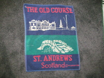 USED RARE St. Andrews Old Course Scotland Collector GOLF Towel 45 x 36 CM
