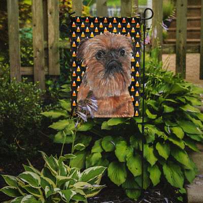 Carolines Treasures  SC9530GF Brussels Griffon Halloween Candy Corn Flag Garden