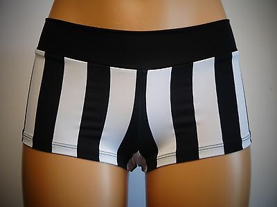 Black/white Striped Cheeky Booty Shorts ~ Dance, Rave, Pole, Cosplay, Sexy,women