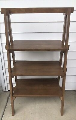 Longaberger Woodcrafts Ladder Shelf Vintage Stain Hard To Find Item