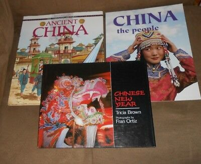Lot of 3 Books - Ancient China/Chinese New Year/China The People - Excellent