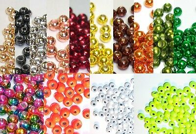 100 Tungsten Fly Tying Beads - Pick Size & Color