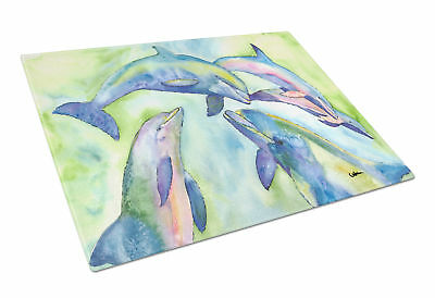 Carolines Treasures  8548LCB Dolphin  Glass Cutting Board Large