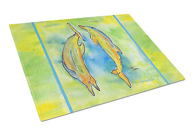 Carolines Treasures  8380LCB Dolphin  Glass Cutting Board Large