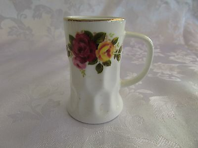 Cottage Rose fine bone china ornament beer stein 6cm high miniature England