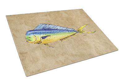 Carolines Treasures  8810LCB Dolphin Mahi Mahi Glass Cutting Board Large