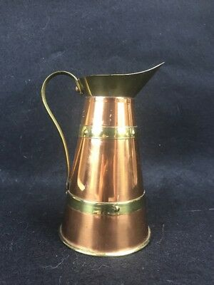 Vintage Winward Birmingham England Copper Brass Jug Pitcher Pot English Vase A5