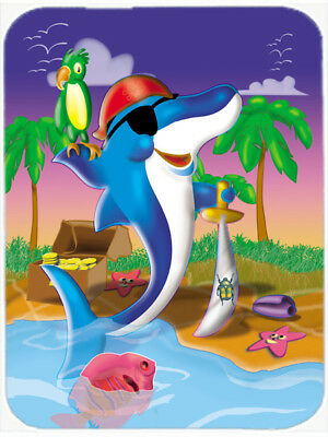 Carolines Treasures  APH2486LCB Dolphin Pirate Glass Cutting Board Large