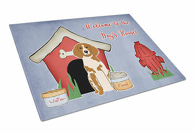 Dog House Collection Brittany Spaniel Glass Cutting Board Large