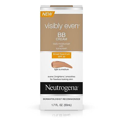 Neutrogena Visibly Even BB Cream Light to Med SPF30 (Discontinued) Rare 07/2017