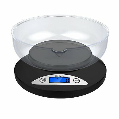 Digital Kitchen Scale up to 5 kg  LCD Food Weighing Baking Diet  with clear Bowl