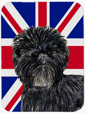 Affenpinscher with English Union Jack British Flag Mouse Pad, Hot Pad or Trivet