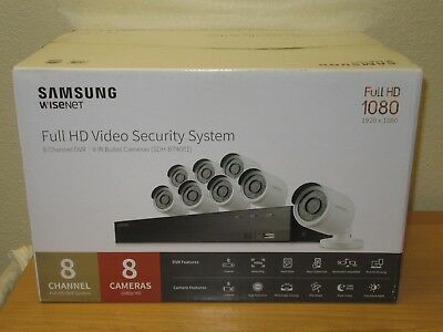 Samsung Wisenet 8 Channel 1080p All In One Security System 8 Cameras
