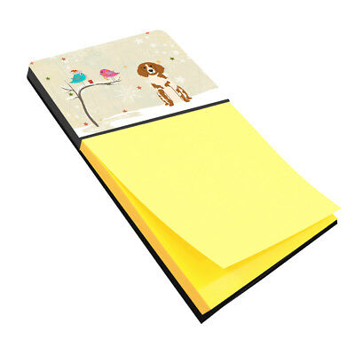 Christmas Presents between Friends Brittany Spaniel Sticky Note Holder