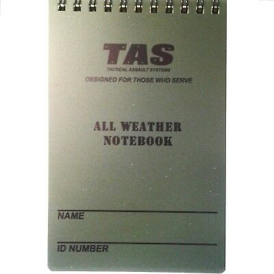 T.a.s. 10 X 15Cm All Weather Notebook Waterproof With Grid Lines - 50 Pages