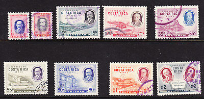 Costa Rica 1959 Viquez & Oreamuno set Used