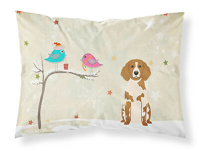 Christmas Presents between Friends Brittany Spaniel Fabric Standard Pillowcase
