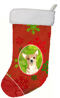 Red Snowflake Chihuahua Christmas Christmas Stocking RDR3012