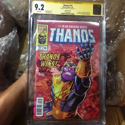 King THANOS #13 CGC SS 9.2 Lenticular Signed Donny Cates 1st Cosmic Ghost Rider