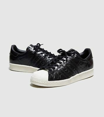3d89735c2746 adidas Originals Superstar 80s Girls Women s Trainer (Variable Sizes) Black  BN