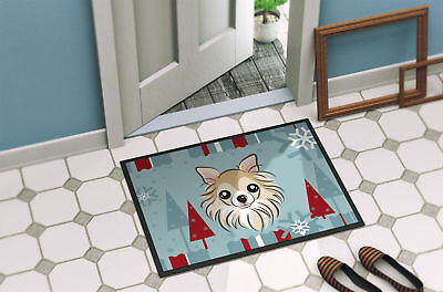 Winter Holiday Chihuahua Indoor or Outdoor Mat 18x27