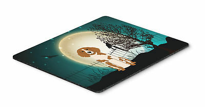 Halloween Scary Brittany Spaniel Mouse Pad, Hot Pad or Trivet