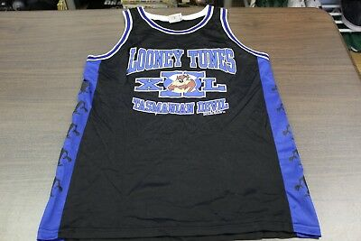 Looney Tunes Tazmanian Devil 1997 Black Basketball Jersey - Large
