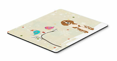 Christmas Presents between Friends Brittany Spaniel Mouse Pad, Hot Pad or Trivet