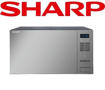 Sharp 1000W 34L Microwave Oven Built-in Weight Scale Mirror Glass Black R34DMBK