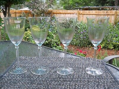 4 Tall Swirl Crystal Wine Stems