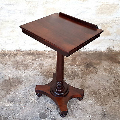 William IV Mahogany Adjustable Reading Table / Side Table - C1830