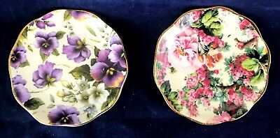 Crown Staffordshire & Collection Trinket Dishes Bone China Set of 2