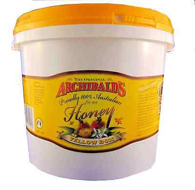 Yellow Box honey, 3 kilo tub, free shipping, Archibalds, 100% Australian honey